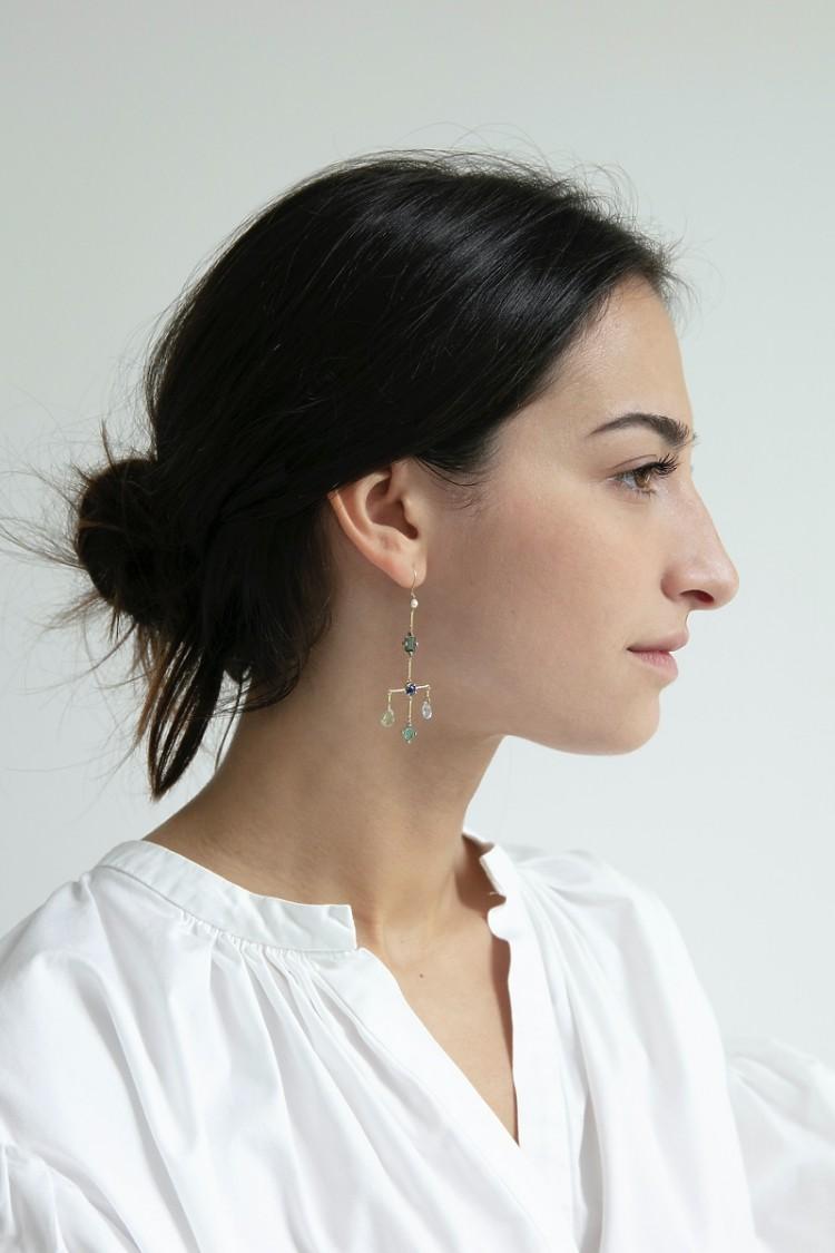 Earring Scott Blue