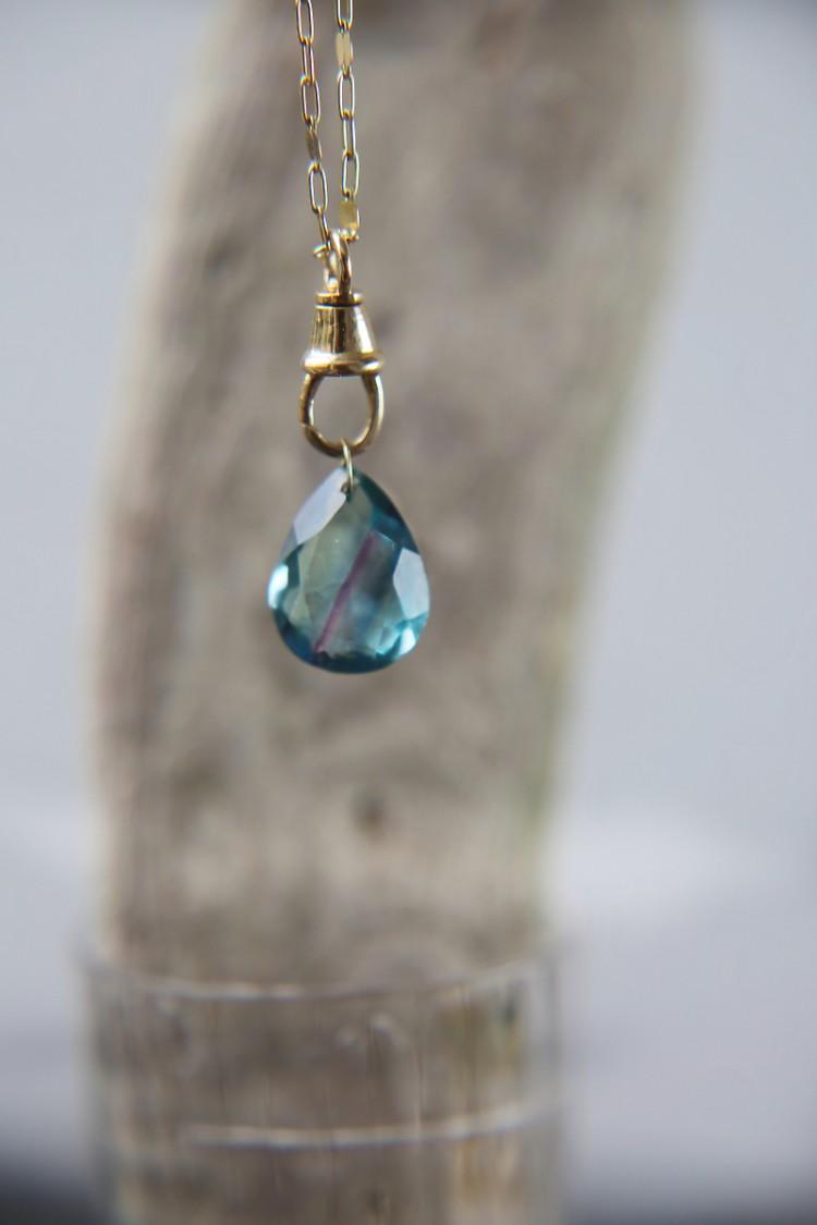 Necklace Fluorite Bleue