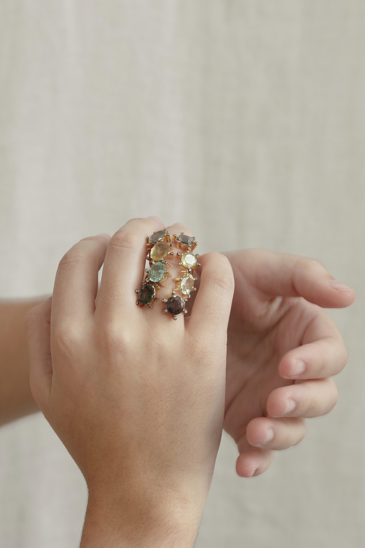 Ring Double saphirs n°3